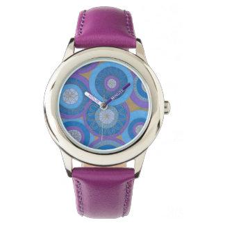 Purple and Blue mandalas Watch