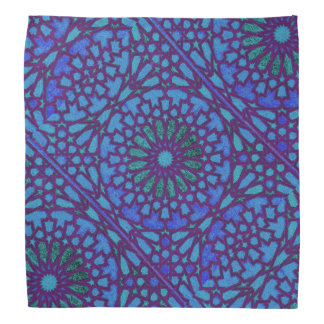 Purple and blue Moroccan knot work Bandanas