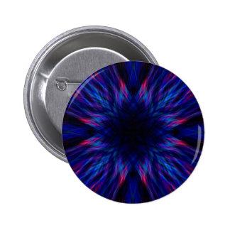 Purple and blue pattern 6 cm round badge