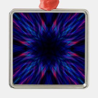 Purple and blue pattern metal ornament