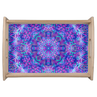 Purple And Blue Pattern   Serving Trays, 2 sizes Serving Tray