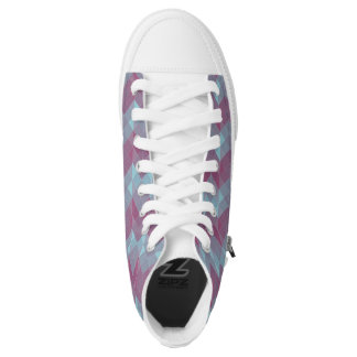 Purple and Blue Printed Shoes