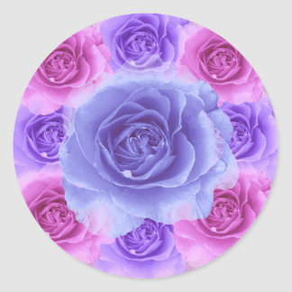 Purple and Blue Roses Sticker