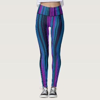 Purple and Blue Streaks Leggings