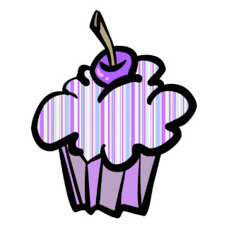 purple and blue stripes cupcake cut outs