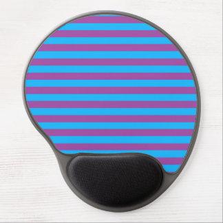 Purple and Blue Stripes Gel Mousepad
