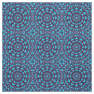 Purple And Blue Two Kaleidoscope   Fabric