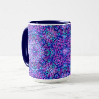 Purple And Blue Vintage Kaleidoscope Combo Mug