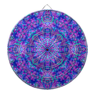 Purple And Blue Vintage Kaleidoscope  Dartboard