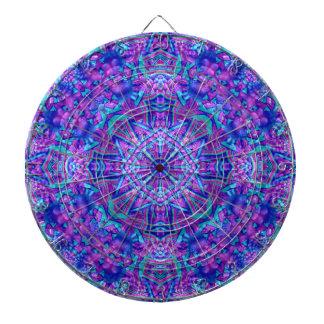 Purple And Blue Vintage Kaleidoscope  Dartboard
