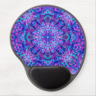 Purple And Blue Vintage Kaleidoscope Gel Mousepad