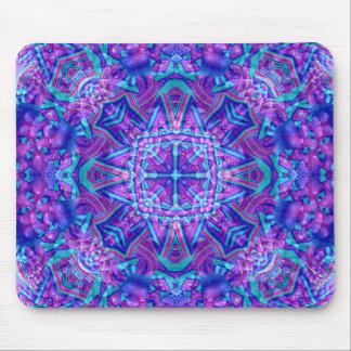 Purple And Blue Vintage Kaleidoscope   Mousepad
