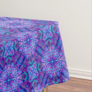 Purple And Blue Vintage Kaleidoscope  Tablecloth