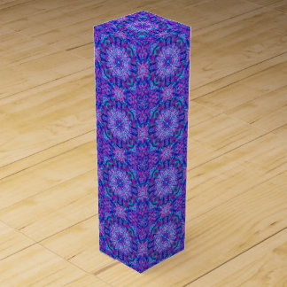 Purple And Blue Vintage Kaleidoscope Wine Gift Box