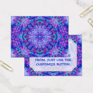 Purple And Blue Vintage Pattern  Business Cards