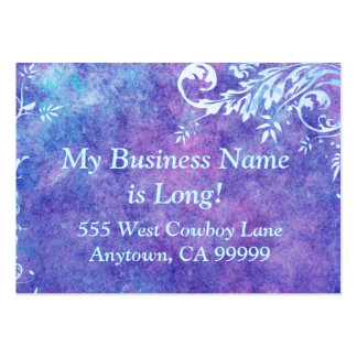 Purple and Blue watercolor business card