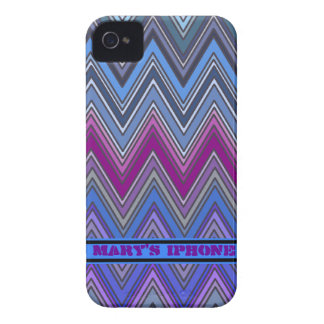 Purple and Blue Zig Zag iPhone 4/4S Case