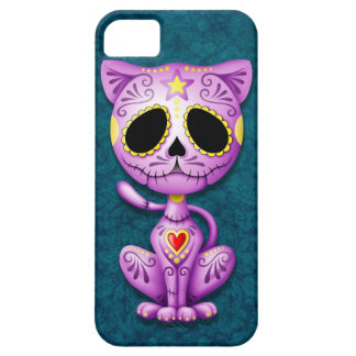 Purple and Blue Zombie Sugar Kitten iPhone 5 Cover