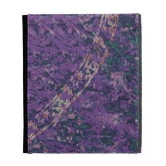 Purple and Emerald Batik iPad Folio Case