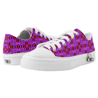 Purple And Gold Abstract Pattern Printed Shoes