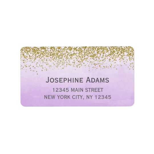 Purple and Gold Address Labels