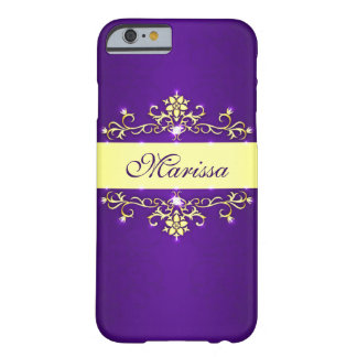 Purple and Gold Barely There iPhone 6 Case