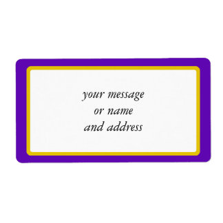 Purple And Gold Border Trim Shipping Label