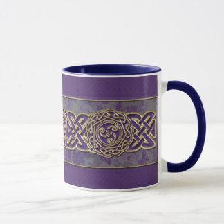 Purple and Gold Celtic Wheel Mug