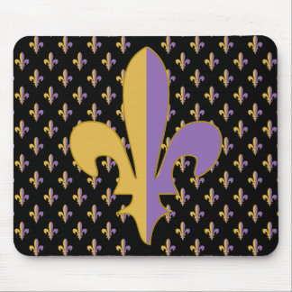 Purple and Gold fleur de lis gifts Mousepads