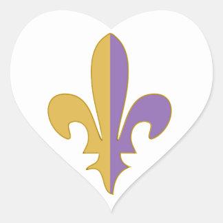 Purple and Gold fleur de lis gifts Sticker