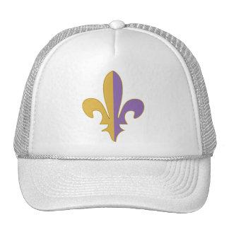 Purple and Gold fleur de lis Trucker Hats
