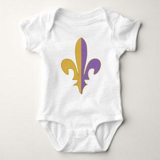 Purple and Gold fleur de lis T-shirts