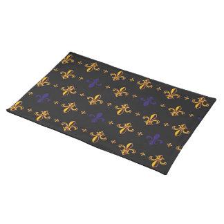 Purple and Gold Fleurs De Lis Placemat