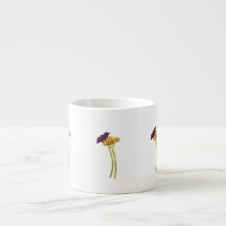 Purple and Gold Flowers Espresso Cup