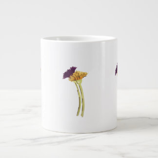 Purple and Gold Flowers large mug