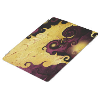 Purple and Gold Leaf Abstract iPad Smart Cover iPad Cover
