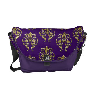 Purple and Gold Messenger Bag