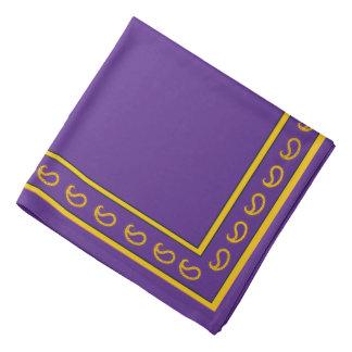 Purple and Gold Paisley Bandana