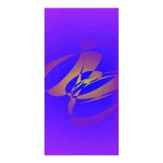 Purple and Gold Custom Photo Card