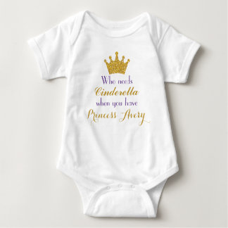 Purple and Gold Princess Bodysuit for Girls