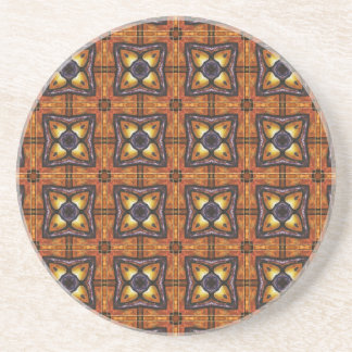 Purple and Gold Royal Tiles 2 Drink Coasters