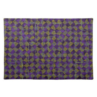 Purple and gold sparkle placemats
