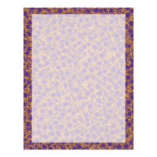 Purple and Gold Star Team Spirit Sports Colors 21.5 Cm X 28 Cm Flyer