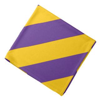 Purple and Gold Striped Bandana