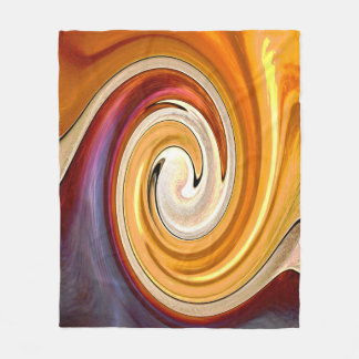 Purple and Gold Swirl Fleece Blanket