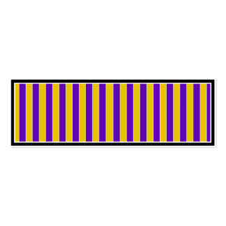 Purple And Gold Team or School Colors Business Card Template