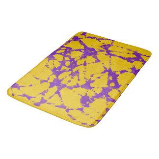 Purple and Gold Tie Dye Bath Mat
