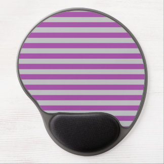 Purple and Gray Stripes Gel Mousepad