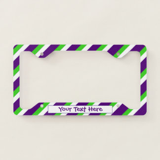 [Purple and Green] Bold Stripes Licence Plate Frame