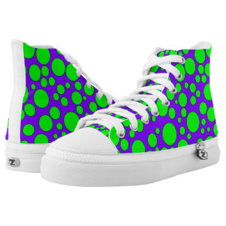 PURPLE AND GREEN BUBBLES HIGH-TOP SNEAKER